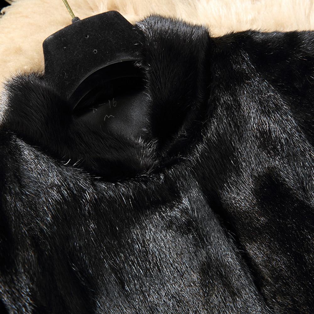 Luxe vent Parka Col Parc Coupe Vêtements Fourrure 2018 Hiver Femmes Naturelle Femelle Manteau Vison Véritable Avec 3xl Survêtement De Tdq8fSxwf