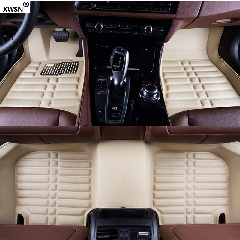 Custom car floor mats for Hyundai Honda Ford Chevrolet Mazda Auto accessories car styling car floor mats covers free shipping 5d for toyota honda for nissan hyundai buick for ford audi benz for bmw car etc styling