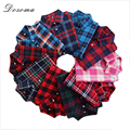 2016 Spring & Autumn Fashion Women Blouses Plaid Pattern Shirt Elegant Long Sleeves Office Lady Shirts Basic Casual Womens Tops