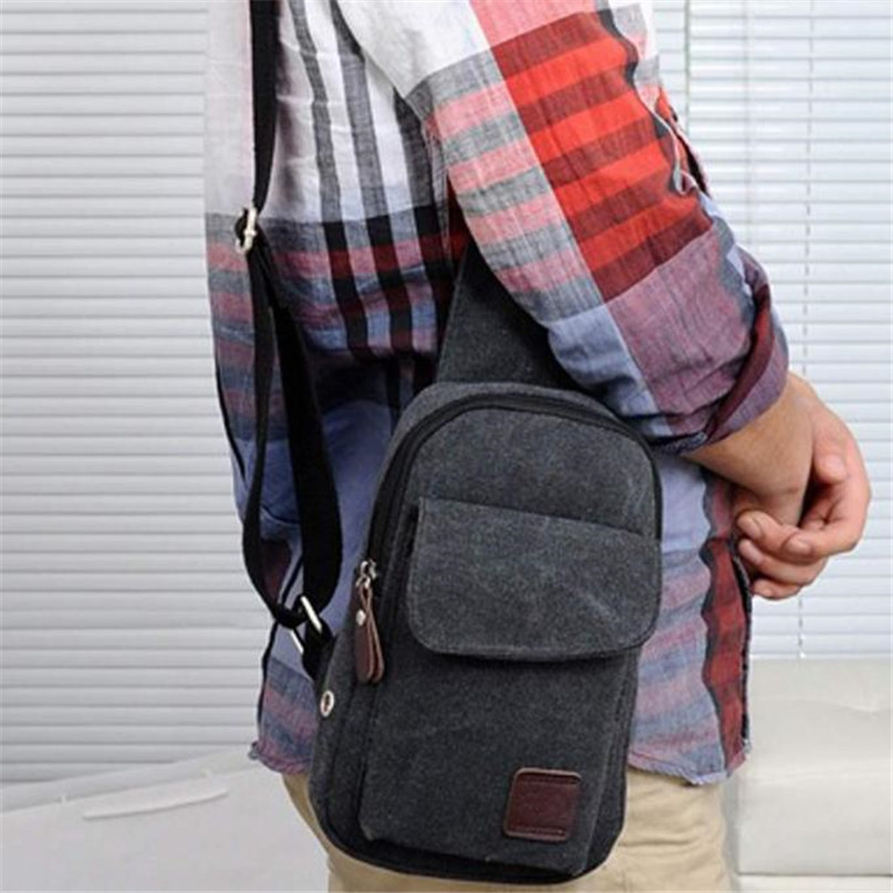 Multifunction Diagonal shoulder chest bag sports bag Men Outdoor Sport Leg Bag Canvas Waist Bag Money Belt Fanny Pack #2a (8)