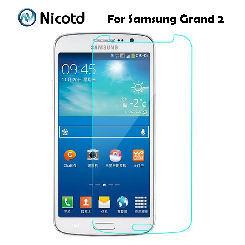 g7106 - Anti-Shock Tempered Glass Film For Samsung Galaxy Grand 2 Duos G7102 G7105 G7106 G7108 G7109 G7108V Screen Protector On Grand2