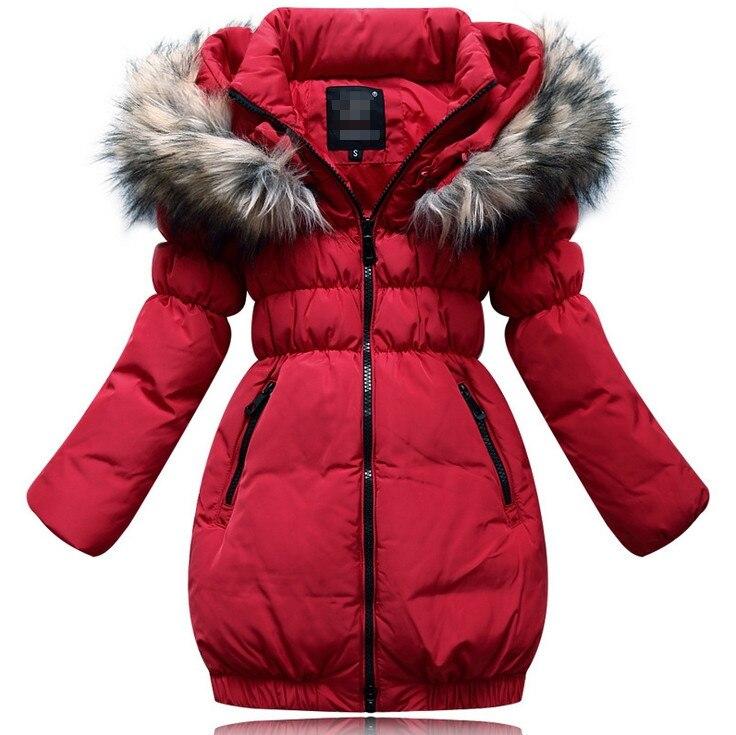 Aliexpress.com : Buy Girls Winter Down Jacket Children Hoodies ...
