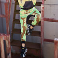 2016 Хип-Хоп Танец Гарем Брюки Камуфляж Брюки-Карго Женщины Случайные Свободные Мешковатые Штаны Плюс Размер Новая Мода