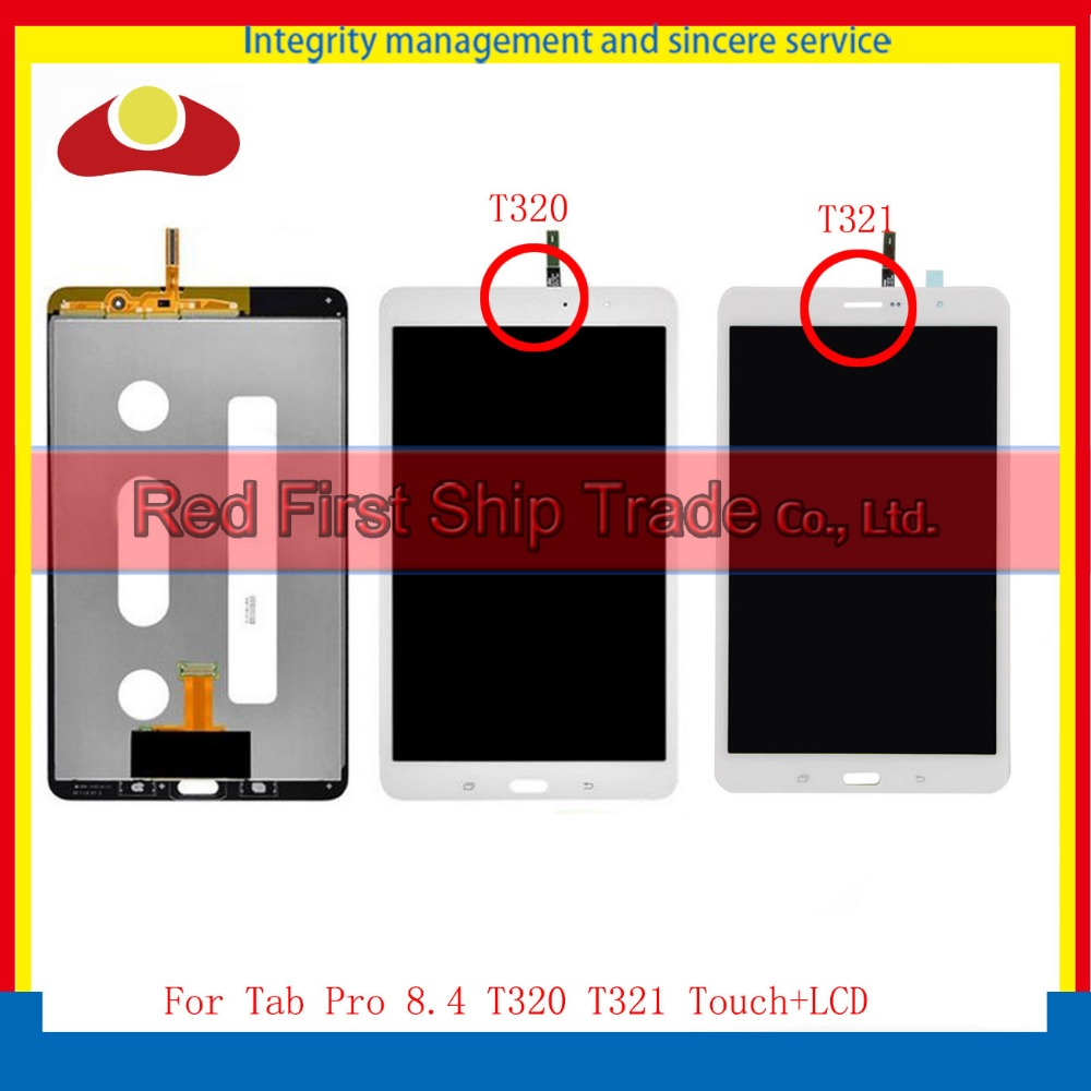 High Quality For Samsung Galaxy Tab Pro 8.4 T320 T321 Full LCD Display Touch Screen Digitizer Assembly Complete White Black best aaa quality for iphone 5 5c 5s lcd touch screen digitizer full set assembly white and black color with fast shipping