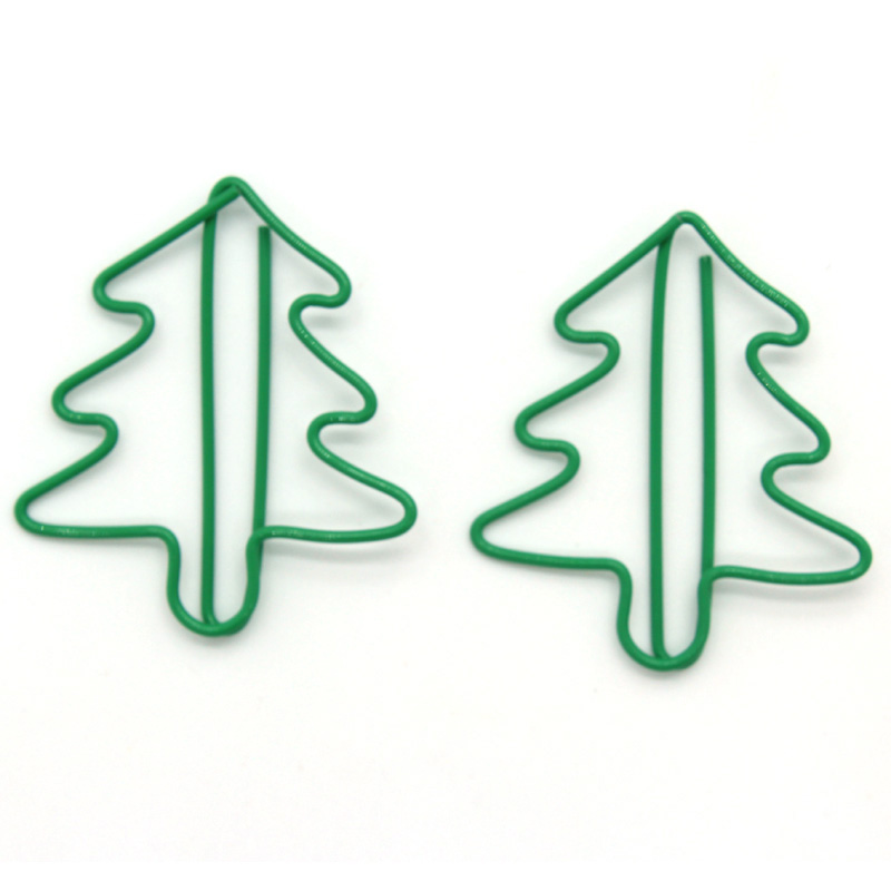 Christmas Tree Shape Creative Cute Kawaii Paper Clips Bookmark Memo Clip For Office School Supplies Stationery 100Pcs/Lot