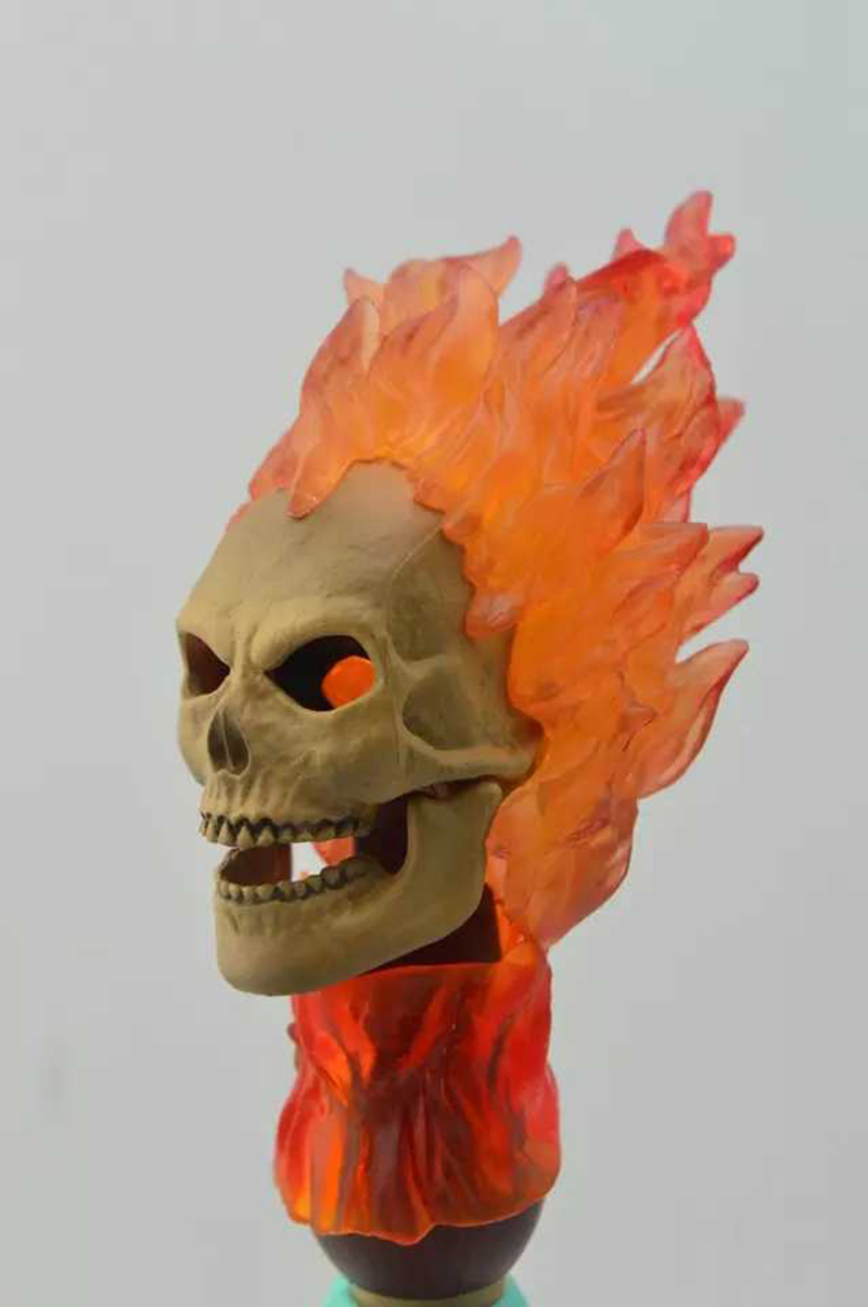 1:6 Scale Action Figure Headplay 1/6 Ghost Rider Head Sculpt Model F 12'' Male Figure Headplay Head Carving Toys Collection