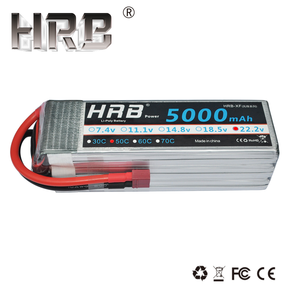 HRB RC Lipo Battery 6S 22 2V 5000mAh 50C Max 100C Li polymer Bateria For RC