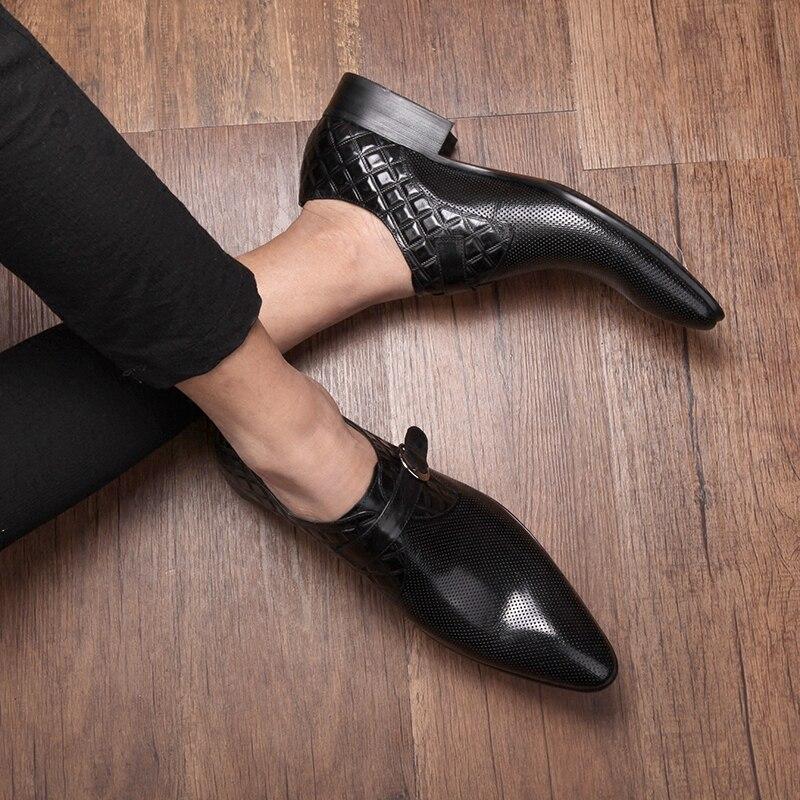 En 2 Top Boucle As Véritable Mariage Partie D'affaires Show De 1 Chaussures Forma as Mens High Robe Talon Cuir Plat 5BqwxHHd