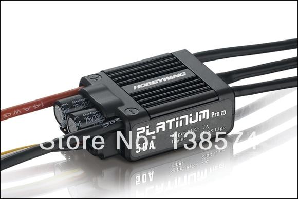 Hobbywing Platinum-50A-V3 contrôleur de vitesse électronique ESC pour classe 450 et 450L (helis)