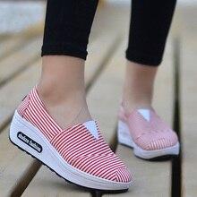 Кроссовки на танкетке для девочек; обувь для танцев; женская парусиновая обувь без шнуровки с мелким узором; Alpargatas; коллекция года; сезон лето