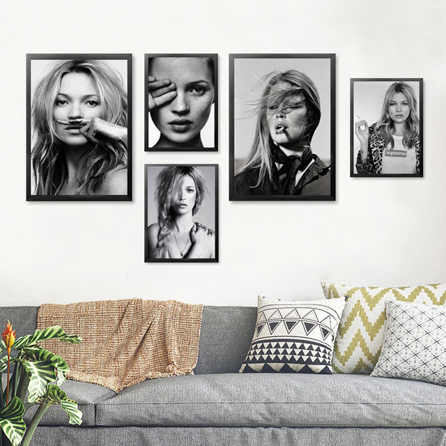 Black White Girl Wall Art Canvas Painting Posters And Print Personalized  Wall Print Wall Pictures Cuadros