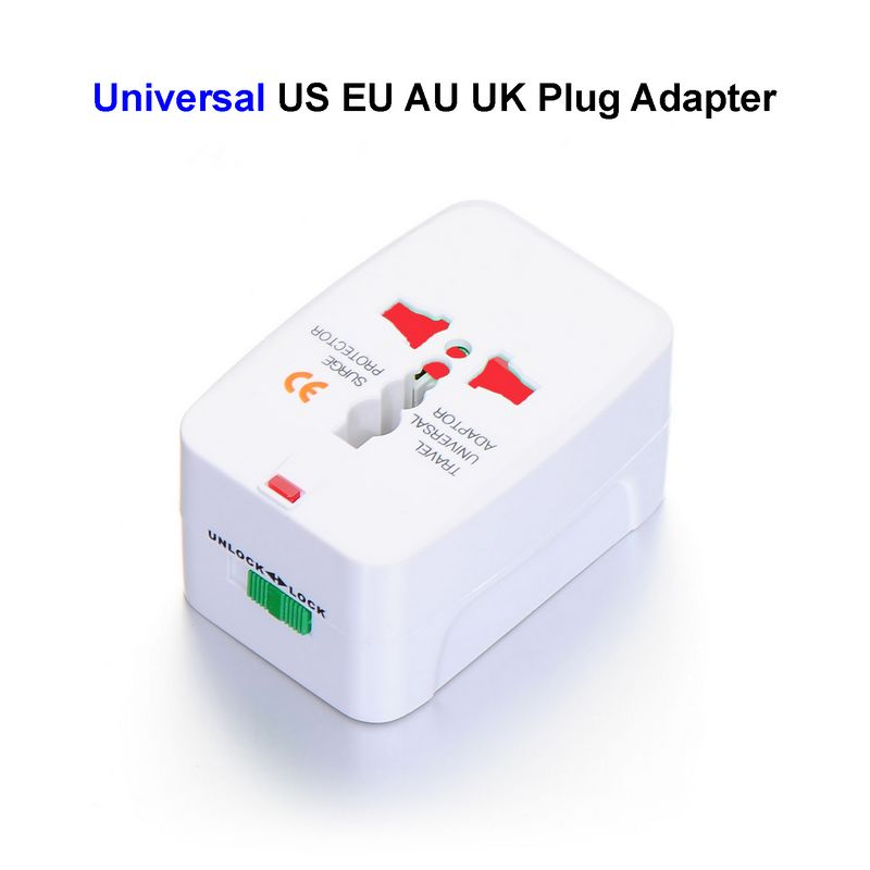 Universal Power Plug Adapter International European EU US AU UK Travel Adapter Electrical AC Charger Converter Socket Outlet