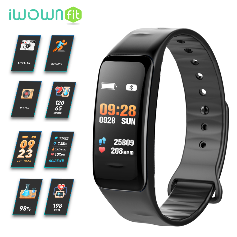 iWOWNfit C1S Smart Wristbands Fitness bracelet Blood Pressure Oxygen Heart Rate Activity Tracker Watch for Xiaomi Mi Amazfit
