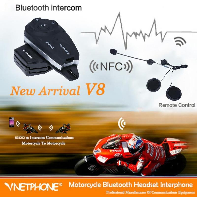Motorcycle Cycling Helmet Mount 1200M Bluetooth Duplex Real Time Interphone Supports Auto Phone Call Answer MP3/GPS/smart Phone