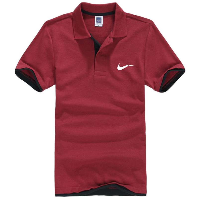New men's polo shirts high-quality cotton short-sleeved shirts breathable solid polo shirts summer casual business men's wear 30