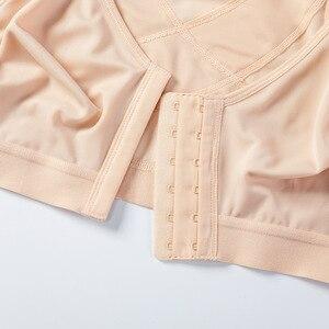 Image 4 - Sutiã de apoio traseiro não acolchoado sem fio de fechamento frontal de cobertura completa feminina