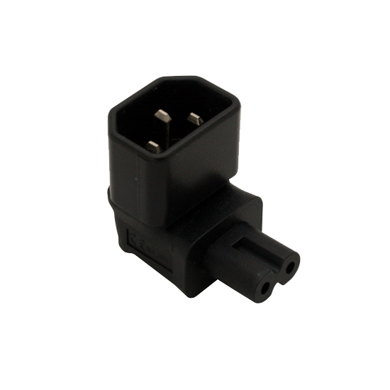 IEC 320 C14 to C7 Power Adapter Female to Male F/M Plug Converter AC CONVERTER IEC 3Pin Female to 2Pin Male Right Angle european iec320 c7 female to c8 male plug extension cord iec 320 c7 c8 extension cords 8 male to female power line 5m 5 pcs