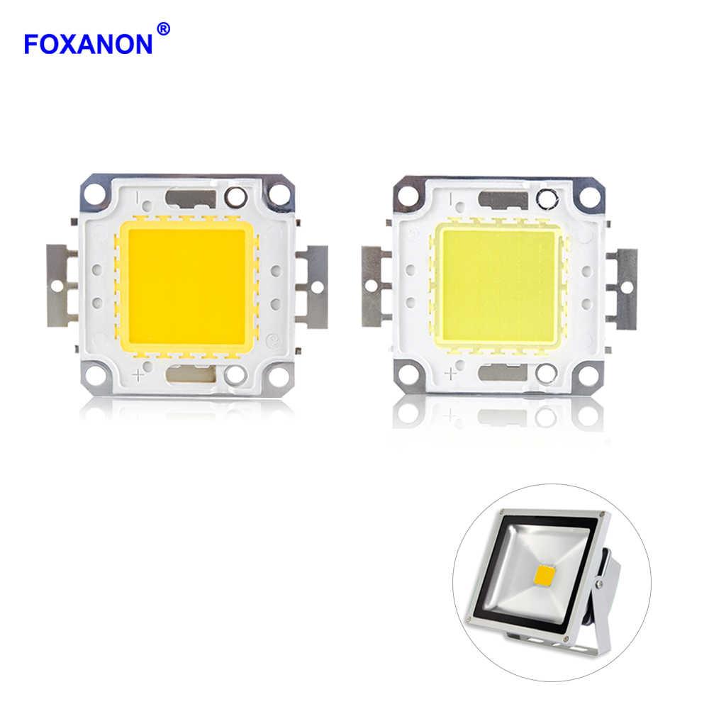 Foxanon LED COB Lamp Bulbs Chip 12V 10W 20W 30W 50W 100W Square Light Matrix Integrated Spotlight For Floodlight Projector Light