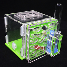 DIY Acryl Ant Farm Ant Nest with Feeding Area Ant House for Pet Anthill Workshop Ant Home with Moisturizing Water Tower 8*8*10cm ant shop ru