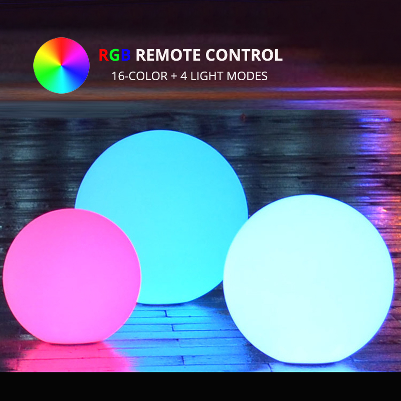 Dia25CM RGB LED Sphere Night Light Remote Control Indoor Outdoor Multicolor Ball Lighting For Coffee Bar Christmas Event Party