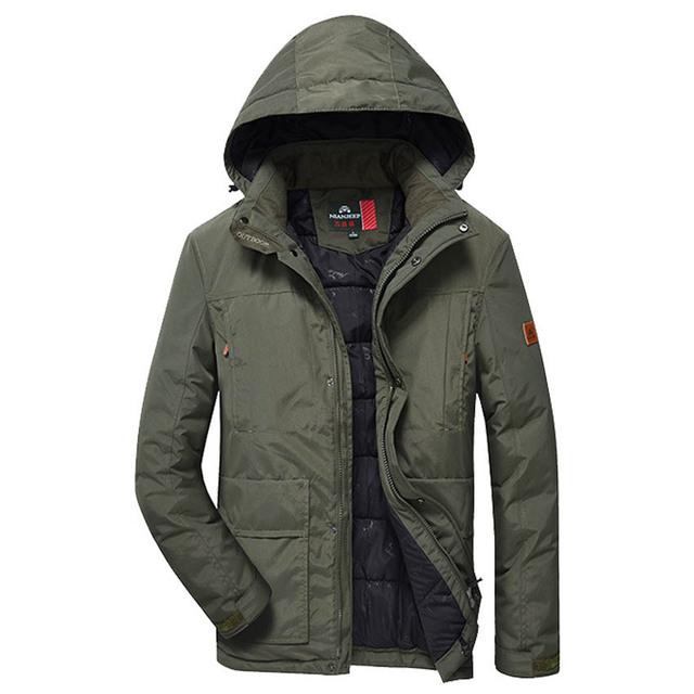 Frete Grátis novo Inverno mais grosso casaco grande tamanho solta com capuz Homens casaco de algodão amassado sólida casaco grosso Plus Size M-5XL 169yw1