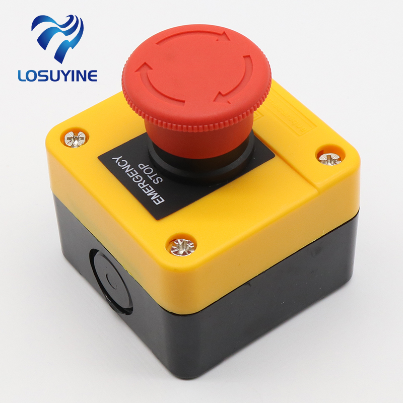 1NO+1NC e-stop push button switch emergency stop switch