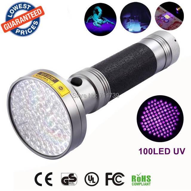 AloneFire Super 100LED UV Light 395-400nm LED UV Flashlight torch light uv lamp