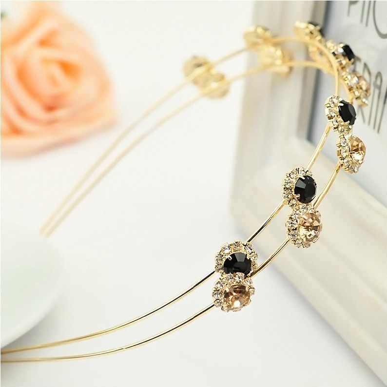 2016 New Crystal Flower Girls Hairbands Hair Holders Silver Gold Plated Metal Accessories Fashion Super Free Shipping