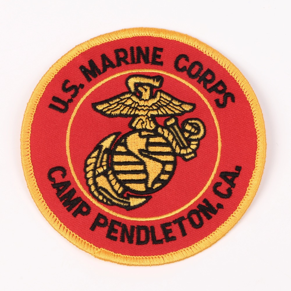UNITED STATES MARINE CORPS USMC U.S. CAMP PENDLETON EMBROIDERED PATCH
