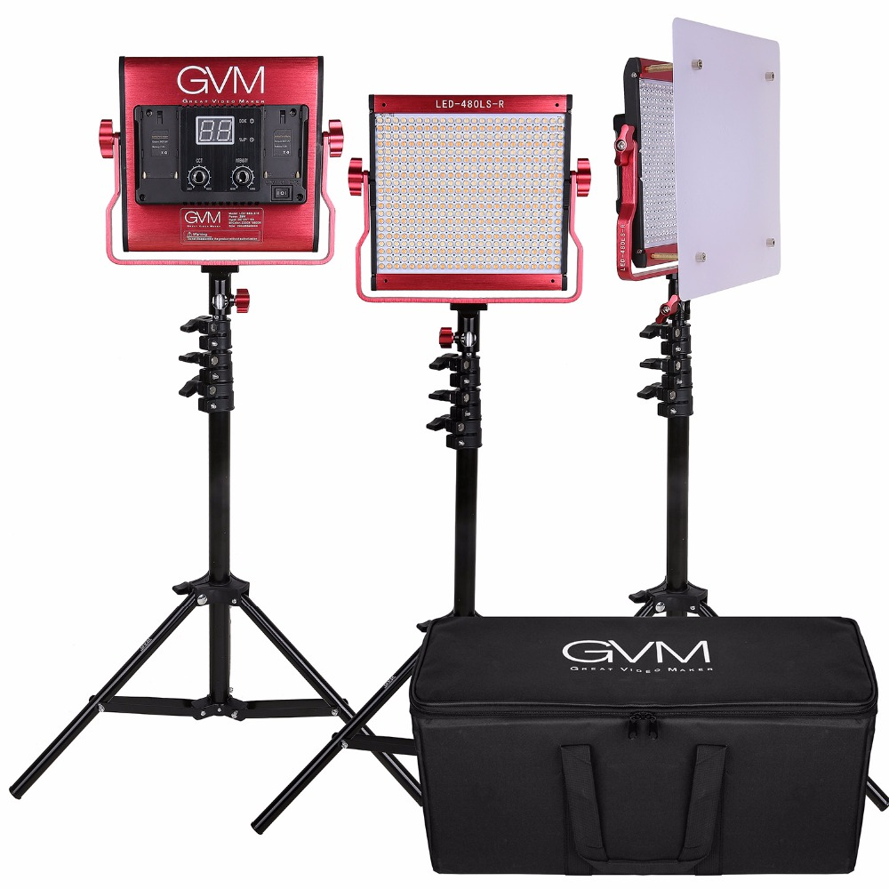 Gvm Photo Studio Led Ring Light: GVM Photography Lighting Kit Set Dimmable 2300K 6800K