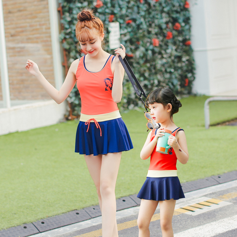 2018 Summer Girls Bathing Suit Mother and Daughter Swimsuit Miraculous Ladybug Girls Swimwear Infant baby Girl Swimwear