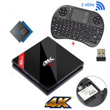 S912 Amlogic 3 GB RAM 32 GB ROM Android TV Box H96 Pro + Plus Quad Core 4 K H.265 WiFi Gigabit Lan Mini PC Smart TV Box + I8 Keyboard