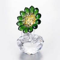 1 Pcs Crystal Sunflower Miniature Figurine Handmade Flower Crystal Craft Glass Home Decor Chrismas Gift Ornament Souvenir