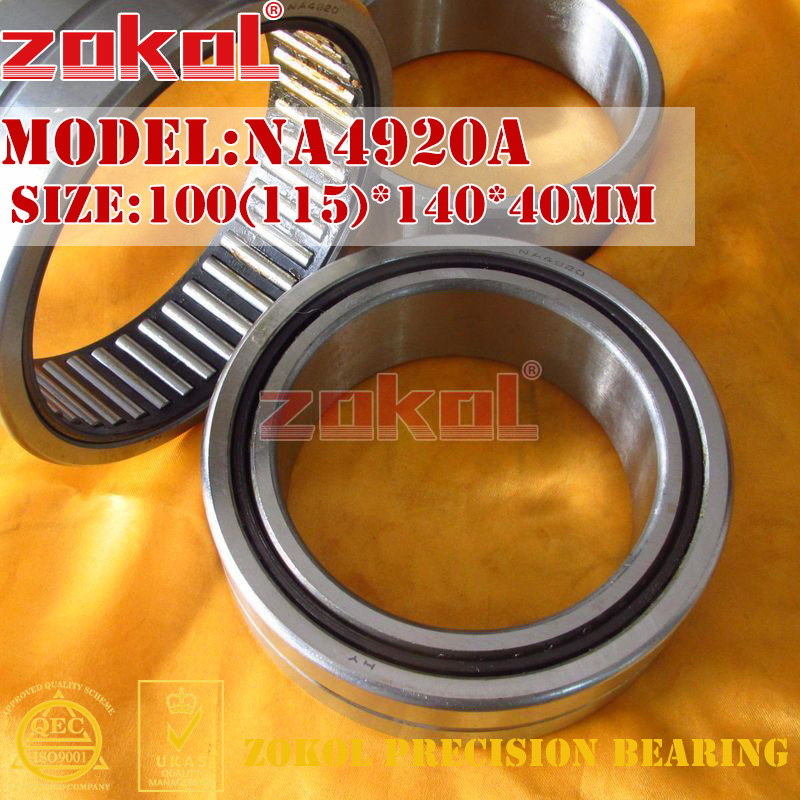 ZOKOL bearing NA4920 A NA4920A Entity ferrule needle roller bearing 100(115)*140*40mm адаптер dell qlogic 2562 dual port 8gb fibre channel hba pci e x8 full profile kit 406 bbek