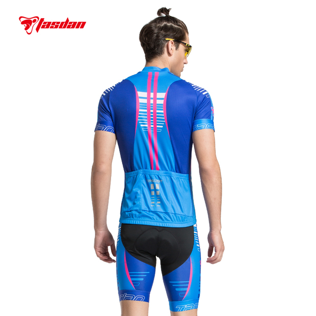 Tasdan 2016 Bike Bicycle Cycling Clothing Cycling Jersey Cycling Shorts Men's Cycling Jersey Sets Blue color High Quality