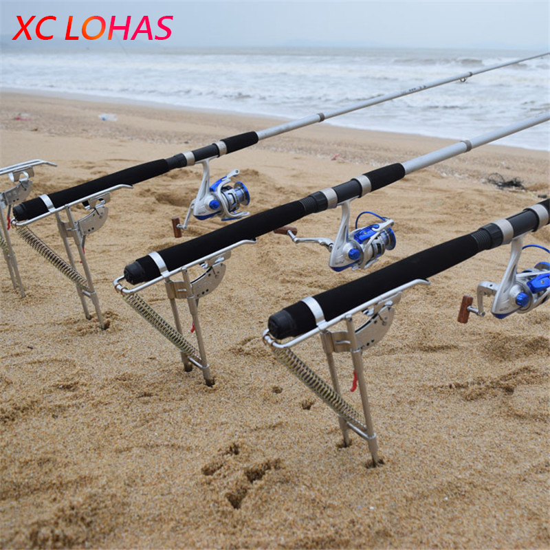 Upgraded Automatic Fishing Rod Accessories Double Spring High Strength Thickened Steel Fishing Pole Stand Bracket Holder stainless steel adjustable single spring automatic fishing rod pole bracket max tension 50kg sea fishing rod stand holder