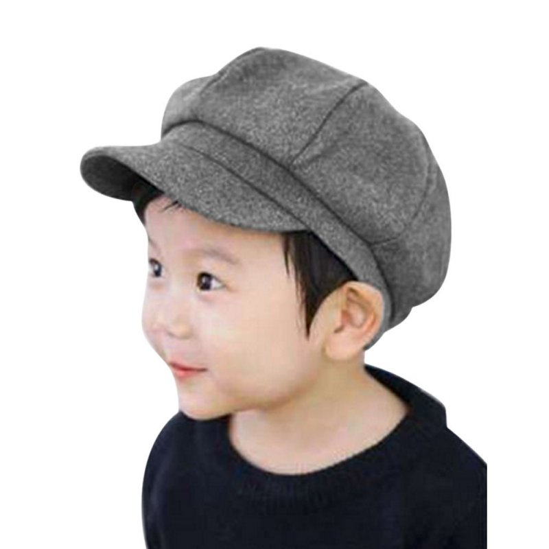 Kids Baby Boy Girl Cute Infant Toddler Soft Beret Cap Dome Octagonal Hat Baseball Casquette S4