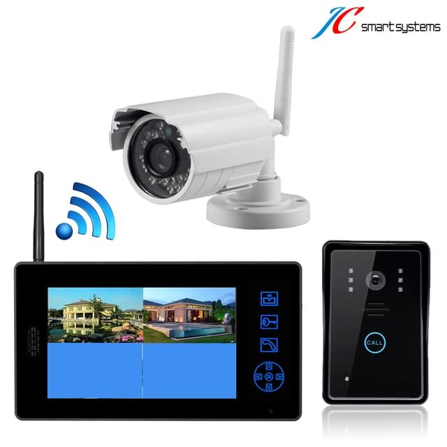 White security camera Wireless CCTV camera system With Video Door Phone digital doorbell