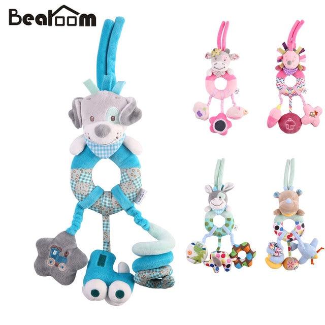 Bearoom 赤ちゃんガラガラモビール学習教育のおもちゃ幼児釣鐘ベビーベッドためのガラガラのおもちゃぬいぐるみベビーカー