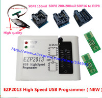 New EZP2013 High Speed USB Programmer 5pcs SOP Adapter SOIC8 Test Clip Better Than EZP2010 Support