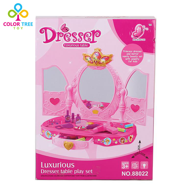 Girl Makeup Dressing Table Kids Beautiful Simulation Furniture Play Set In  Furniture Toys From Toys U0026 Hobbies On Aliexpress.com | Alibaba Group