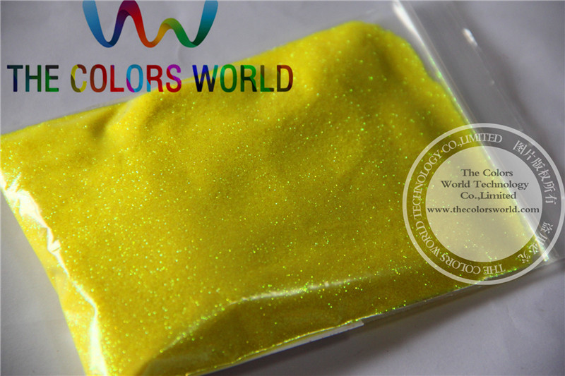 TCR50 0.2mm Neon Iridescent Yellow color Glitter Powder for nail,tatto art decoration DIY powder nao for all we know neon yellow