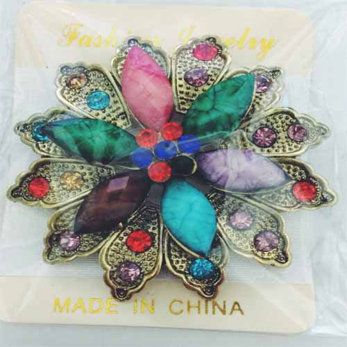 Goedkope Vintage sieraden hars bloemvorm broches pins voor vrouwen - Mode-sieraden - Foto 4