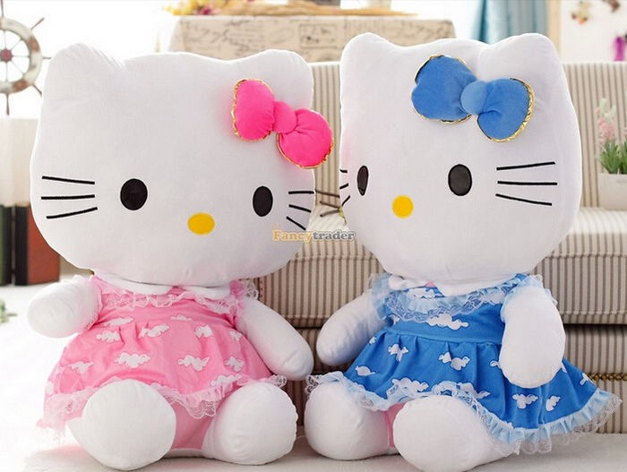Fancytrader 27\'\' 70cm Giant Plush Stuffed Hello Kitty, 3 Colors Available! Free Shipping FT90157 (6).jpg