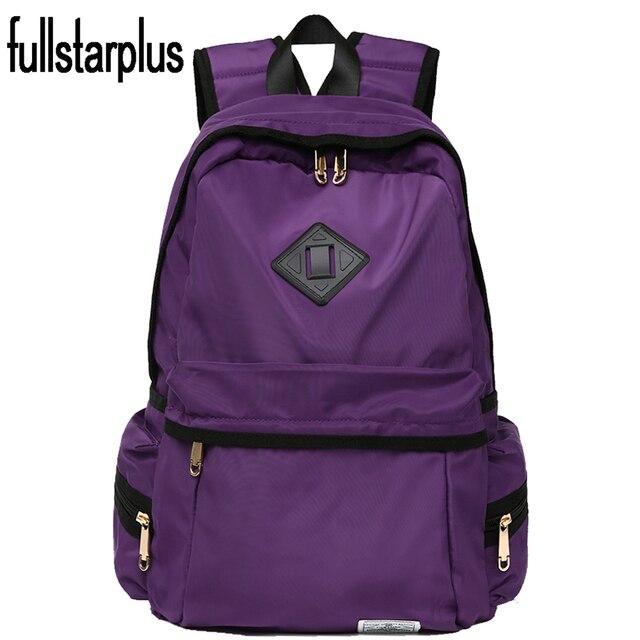 Fullstarplus Women Backpack for Teenagers Girls Vintage Stylish school backpack bag Solid BackPack purple backpack schoolbags