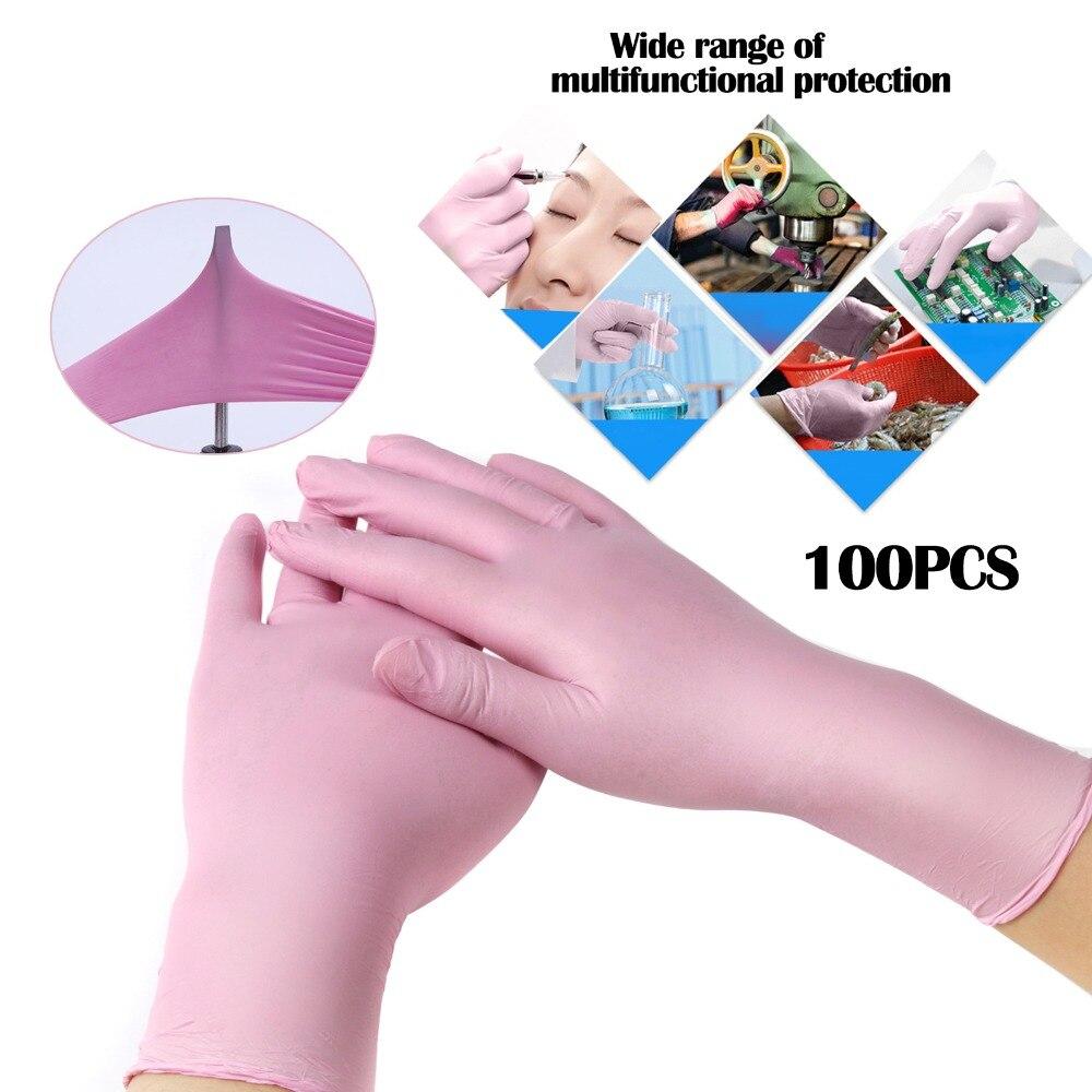 Gants jetables en Latex rose/bleu XL | Pour nettoyage à domicile, gants de nettoyage alimentaires jetables, gants de nettoyage antidérapants acide/alcali 100 pièces