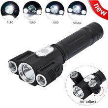 5000LM Camp XML T6 + 2R5 LED Torch 4 Modes LED Flashlight Torch Magnetic Tactical Flash lamp For 1×18650 Battery