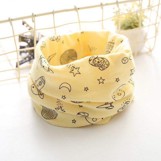 Корейский хлопковый детский шарф, снуд с рисунком, клетчатые шарфы с кольцами для девочек, зимний теплый снуд для мальчиков, детский снуд - Цвет: 9