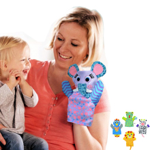 Special Feeding Baby Bibs Burp Cloth & Hand Puppets in 1 Mother