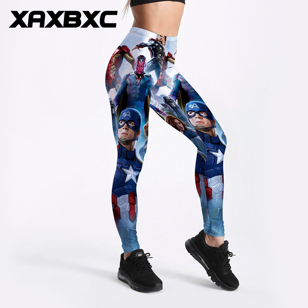 Punctual New 3554 Sexy Girl Slim Ninth Pants Women Comics Superman Wonder Woman 3d Printed Stretch Fitness Women Leggings Plus Size Women's Clothing